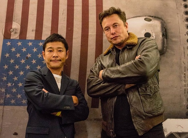Юсака Маедзава & Ілон Маск / Фото: instagram.com/yusaku2020
