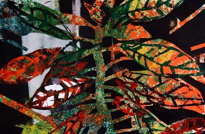 Фрагмент картини Наталії Корф-Іванюк із серії «Некімнатні рослини»