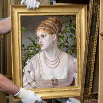 Картина Емми Сандіс, яку було вкрадено у 1988 році / Фото: instagram.com/christiesinc