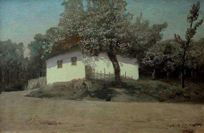 """Іван Труш (1869-1941). """"Хата в місячну ніч"""", 1920-і рр."""