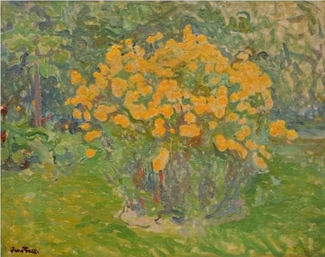 """Іван Труш (1869-1941). """"Квітучий кущ"""", 1910-і рр."""