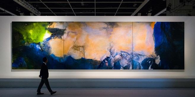 Картина китайського художника Чжао Уцзі, Лютий - Жовтень, 1985 / Фото: AFP