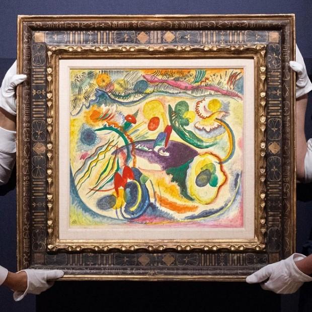 Василь Кандинський, «Zum thema Jüngstes Gericht», 1913 («На тему Страшного Суду») / Фото: sothebys.com