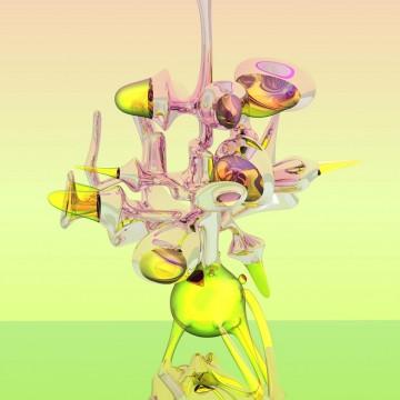 Степан Рябченко «Алхимикус Благоухающий». Из серии «Виртуальный сад» 290 х 150 см, цифровая печать на алюминии, 2016
