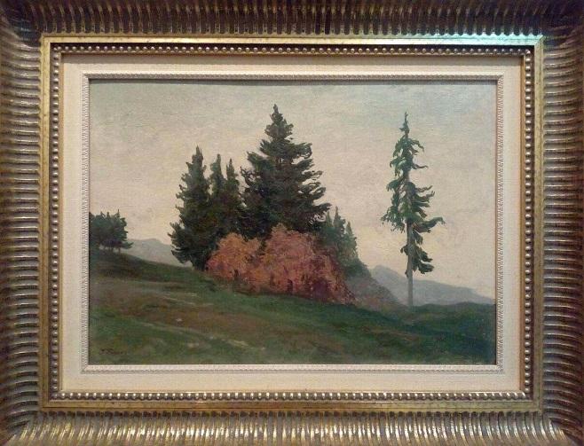 Друга картина Івана Труша, на якій зображено вершина та хрибет гори Маґура (праворуч між деревом та пагорбом)