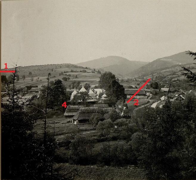 На жаль, ліворуч фотографія обрізана, то тільки частина дерев відніється що зображено на картині
