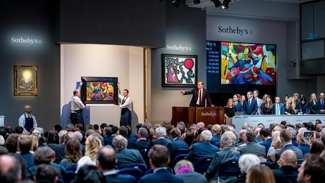 Під час вечірніх торгів 12 листопада на аукціоні Sotheby's у Нью-Йорку / Фото: sothebys.com