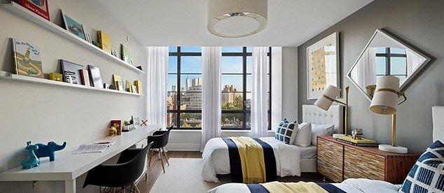 Нью-йоркська квартира Хізи Керцнер, де була робота Дейміана Херста (на фото вище ліжка)