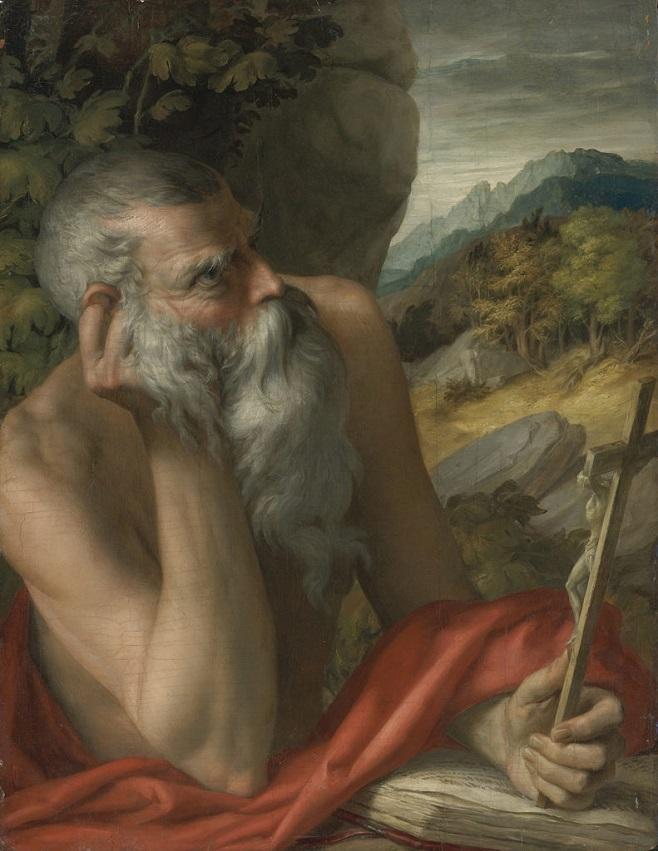 """Картина, що виявилася підробкою Франческо Парміджаніно, """"Святий Ієронім"""" / Фото: Sotheby's"""