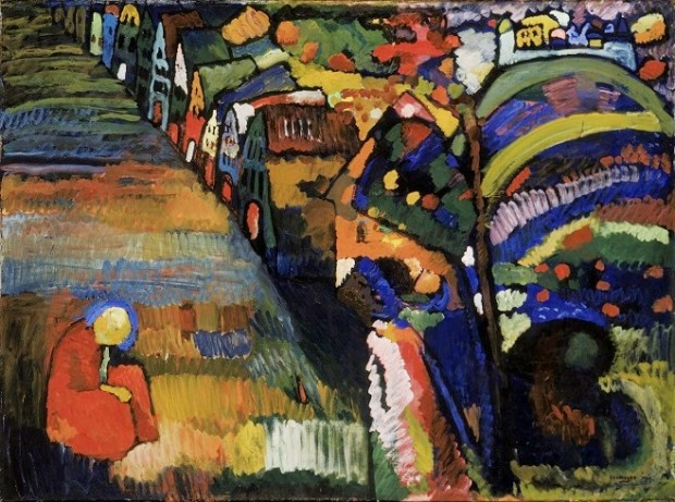 Василь Кандинський, «Пейзаж з будинками», 1909 / Фото: stedelijk.nl
