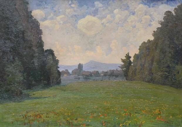 """Картина Івана Труша, """"Далекі гори"""", приблизно 1900 - 1914 рр"""