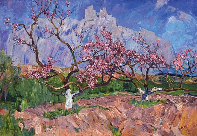 Петро Столяренко «Персики квітнуть», 1970-і
