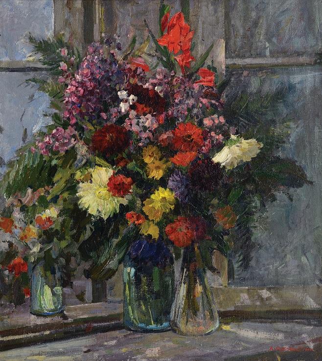 Данило Безуглий «Квіти на вікні», 1947