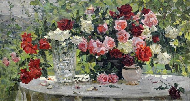 Надія Компанієць-Киянченко «Троянди», 1959