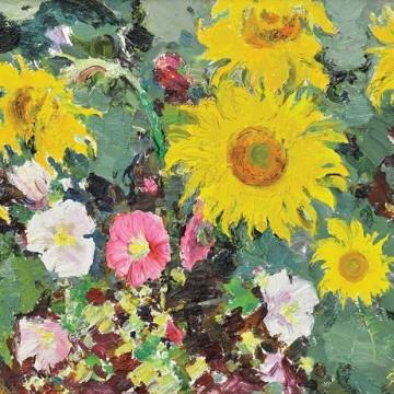 Сергій Шишко «Соняшники і мальви», 1969