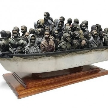 "Бенксі, ""Човен з біженцями"" / Фото: instagram.com/banksy"