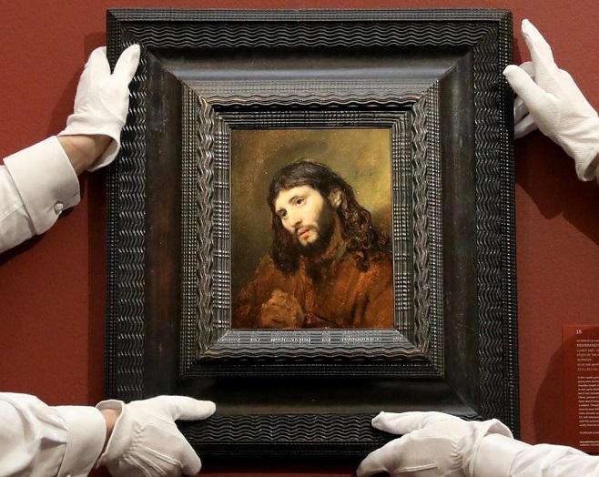 Рембрандт ван Рейн «Ескіз голови і складених в молитві рук юнака в образі Христа» , 1655 / Фото: sothebys.com