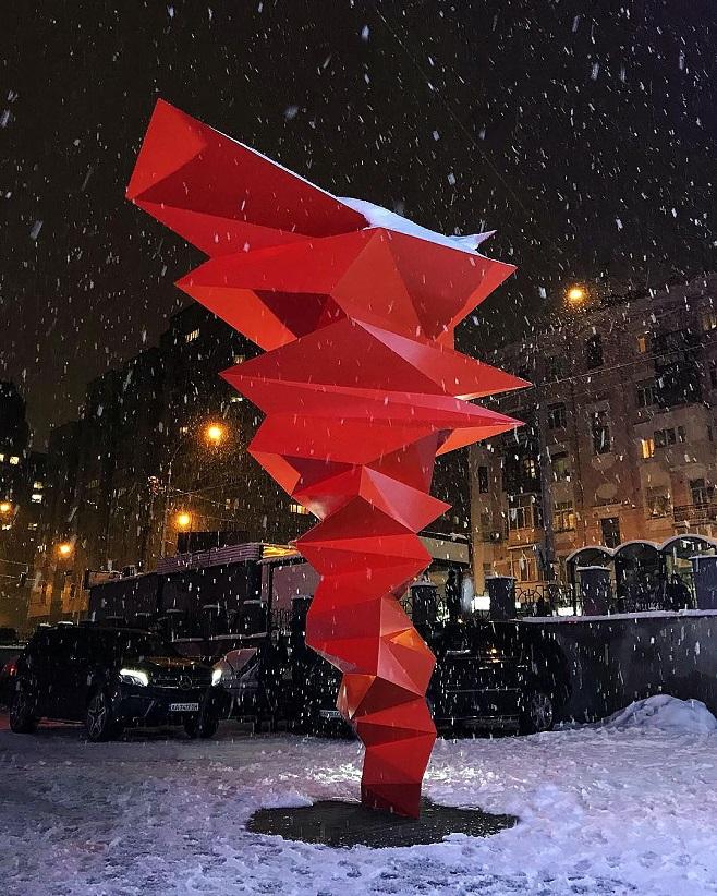 Скульптура Степана Рябченко «Явлення», 2018 / Фото: Вікторія Кулікова
