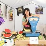 Жанна Кадирова за прилавком на PULSE Miami Beach 2018 /Фото: voloshyngallery.art