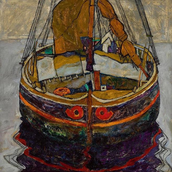 Еґона Шіле «Рибальський човен в Трієсті» / Фото: sothebys.com