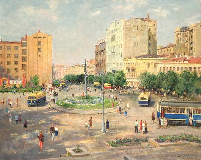 Сергій Шишко,  Європейська площа у Києві, 1949