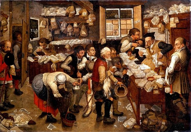 Пітер Брейгель Молодший. «Контора збирача податків». Близько 1615. / Фото: USC Fisher Museum of Art