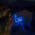 Степан Рябченко. «Мур-Мяу», 470 х 430 см, неон / Фото: Вячеслав Грубий